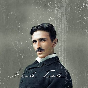Nikola Tesla by Robert Saenz by Oeuvre
