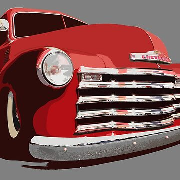 Chevy 3100 Pickup 1 - stylized color by mal-photography