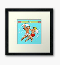 Pillow Fighter 2 Turbo Champion Edition Framed Print