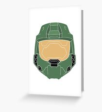 Stencilled Master Chief Greeting Card