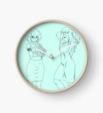 trish and mish Clock
