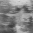 «Ilustración de Smokey Mist (gris), Mezcla digital de camuflaje de acuarela - Arte fluido» de PIPAArtHomeDeco