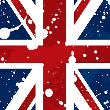 United Kingdom Flag in red white and blue by JDJDesign