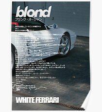 White Ferrari -  Poster