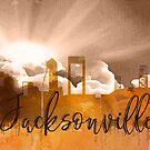 Jacksonville | Stadt Skyline | Buntes Aquarell von PraiseQuotes