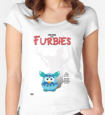 Furbies DVD Cover - Gremlins Parody Women's Fitted Scoop T-Shirt