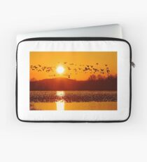 Snow Geese Flying at Sunrise Laptop Sleeve