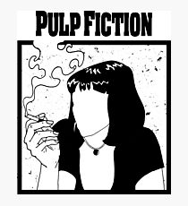 pulp fiction draw Photographic Print