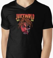 Camiseta de cuello en V Juicewrld 999 dibujos animados