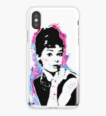 Audrey Hepburn - Street art - Watercolor - Popart style - Andy Warhol Jonny2may iPhone Case/Skin