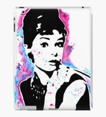 Audrey Hepburn - Street art - Watercolor - Popart style - Andy Warhol Jonny2may iPad Case/Skin