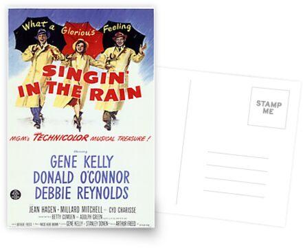 Singin im Regen Klassisches Filmplakat von Simon Gentleman