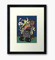 Teddy Bear And Bunny - Gone Native Framed Print