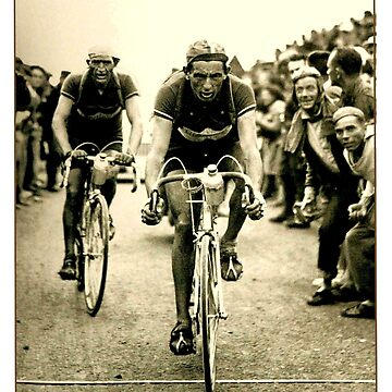 TOUR DE FRANCE; Vintage Bicycle Racing Print by posterbobs