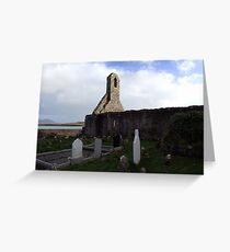 Ballinskelligs Abbey & Graveyard Greeting Card