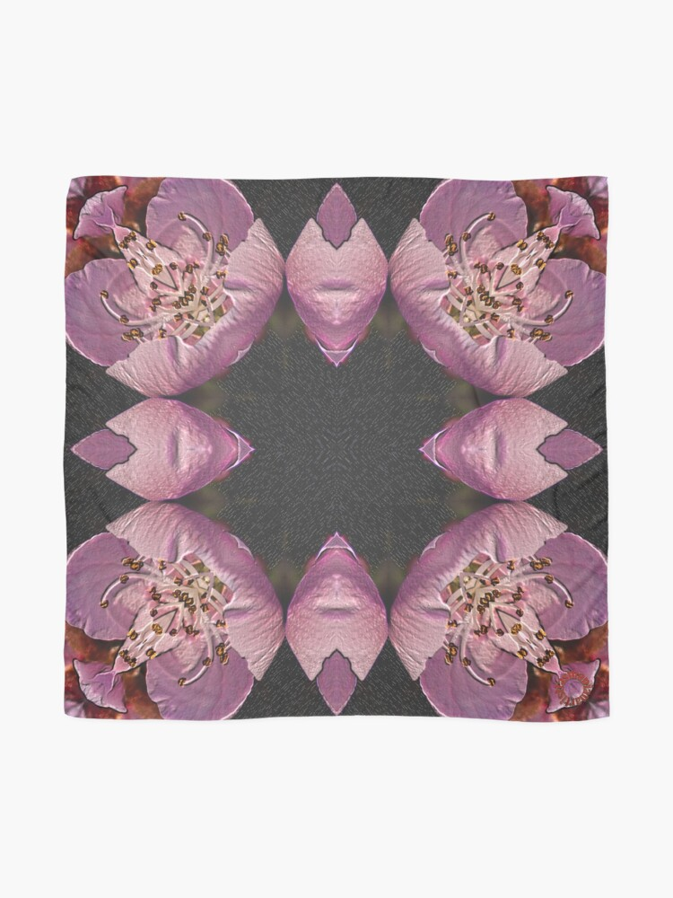 Alternate view of D1G1TAL-M00DZ ~ FLORAL ~ Peachblossom Petals 6 by tasmanianartist 131218 Scarf