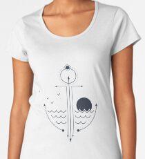 Sea. Sun. Anchor. Creative Double Exposure Women's Premium T-Shirt