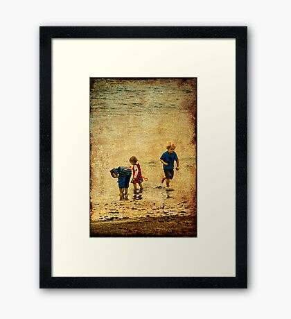 A Day at the Seaside Framed Print