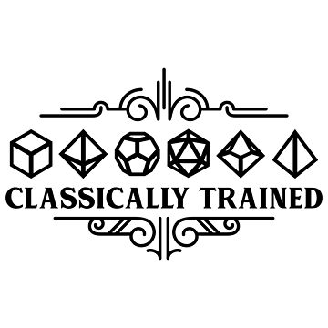 Classically Trained Polyhedral Dice Set Black Tabletop RPG Addict by pixeptional