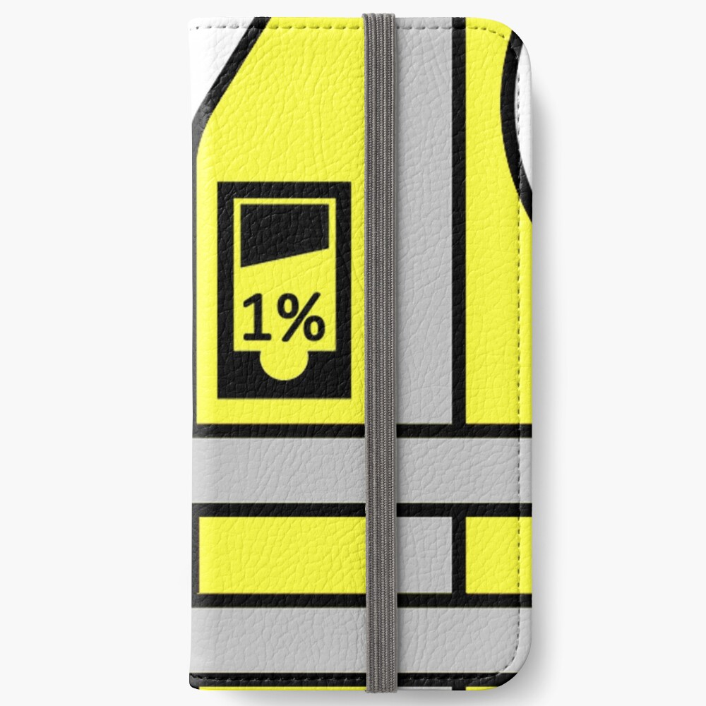 Chalecos amarillos vs 1% Fundas tarjetero para iPhone