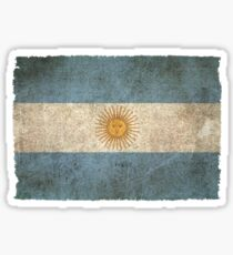 Old and Worn Distressed Vintage Flag of Argentina Sticker