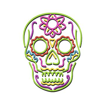 Sugar Skull Neon Sign by patrimonio