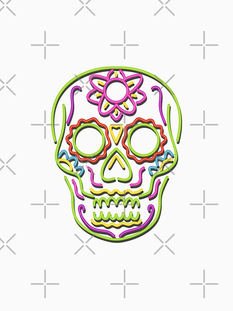 Sugar Skull Neon Sign by patrimonio