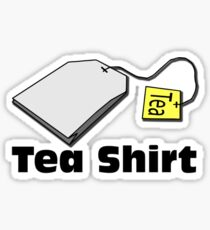 Tea shirt Sticker