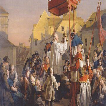 Blessing-Ferdinand Georg Waldmüller by LexBauer