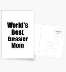 Eurasier Mom Dog Lover World's Best Funny Gift Idea For My Pet Owner Postkarten