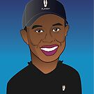 tiger woods caricature by boabie109