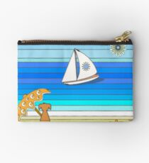 Dog on Beach - Parasol and Paradise Studio Pouch