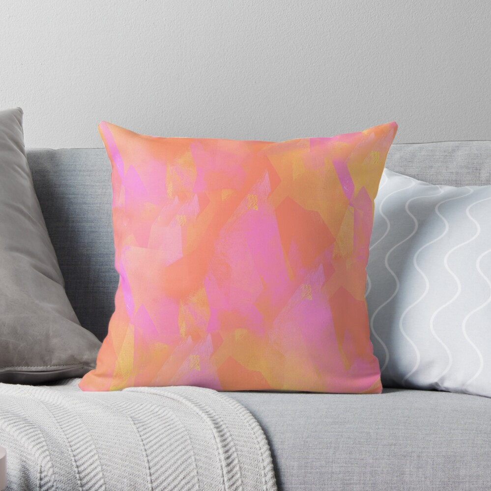 Camouflage CL (living coral edition) Throw Pillow