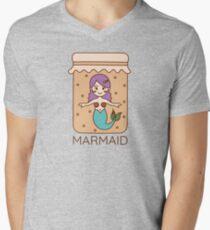 Camiseta para hombre de cuello en v Sirena marmaid