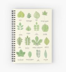 Leaf ID Chart Spiral Notebook