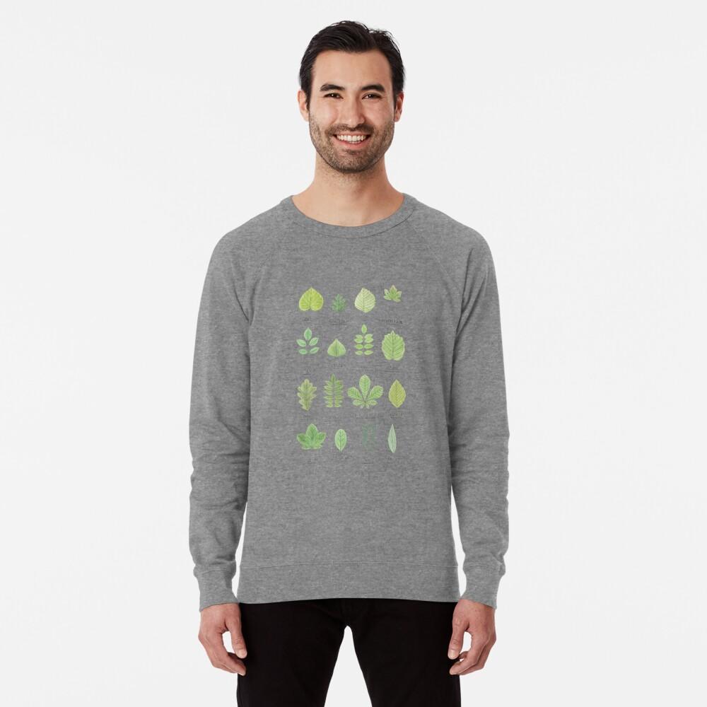 Leaf ID Chart Lightweight Sweatshirt