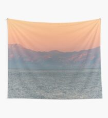 Orange and Pink Sunrise at the Amalfi Coast in Southern Italy Wall Tapestry