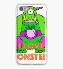 I Love Monsters iPhone Case/Skin