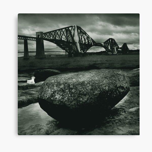 Big Rock Big Bridge Canvas Print