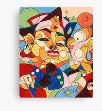 Cartoon - with hidden pictures Canvas Print