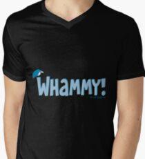 Whammy Blue Mens V-Neck T-Shirt