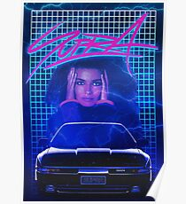 Synthwave-Supra-Plakat. Poster