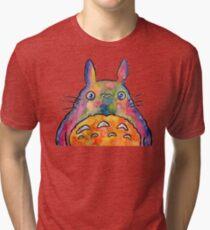 Cute Colorful Totoro! Tshirts + more! Jonny2may Tri-blend T-Shirt