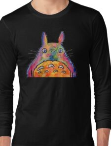 Cute Colorful Totoro! Tshirts + more! Jonny2may Long Sleeve T-Shirt