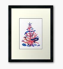 Christmas Coral Framed Print