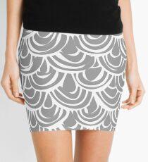 monochrome scallop scales Mini Skirt