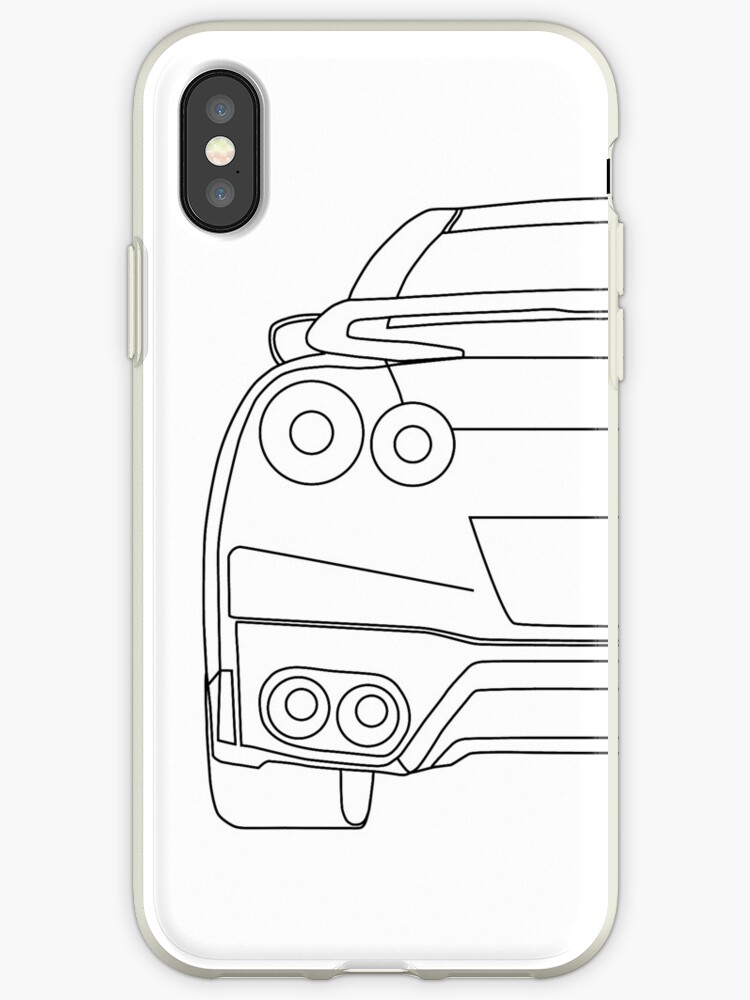 Vinilos Y Fundas Para Iphone Nissan R35 Gtr Rear Wireframe Design