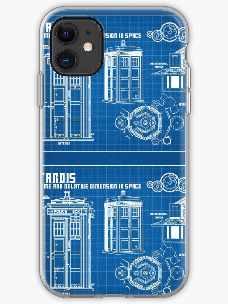 police call box splatter iphone case