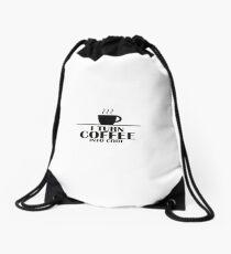 I Turn Coffee Into Codo Drawstring Bag