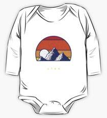 Einsamkeit Utah - USA Ski Resort 1980er Jahre Retro Kollektion Shirt Baby Body Langarm